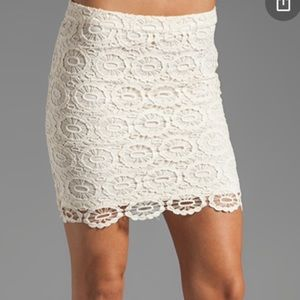 Jack by BB Dakota Ivory Crochet Skirt NWT Size 6